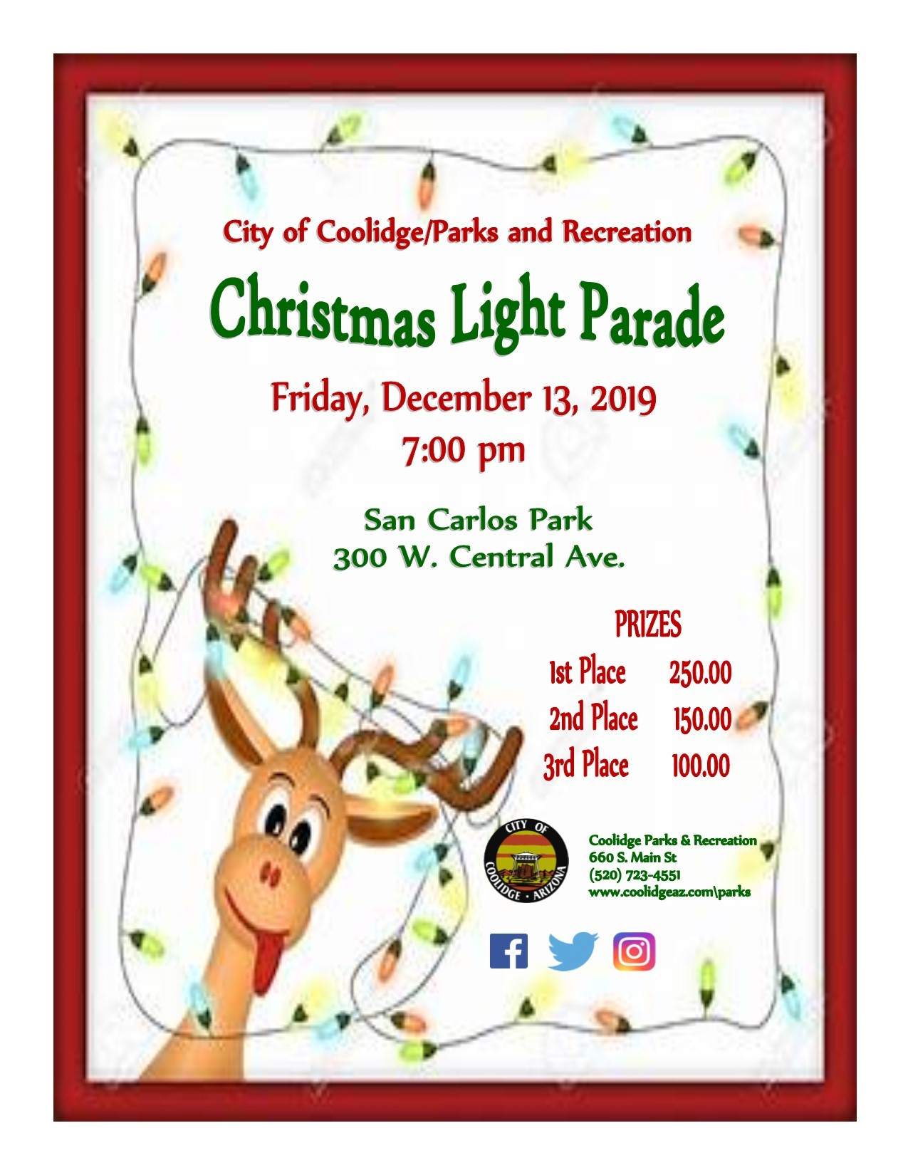 Coolidge Christmas Light Parade 2020 Time Christmas Light Parade   Coolidge, AZ